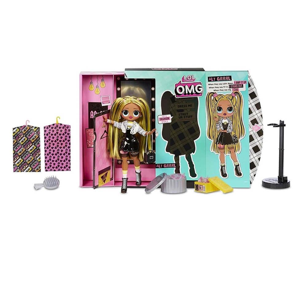 Большая кукла LOL Surprise OMG Alt Grrrl Fashion Doll с 20 сюрпризами